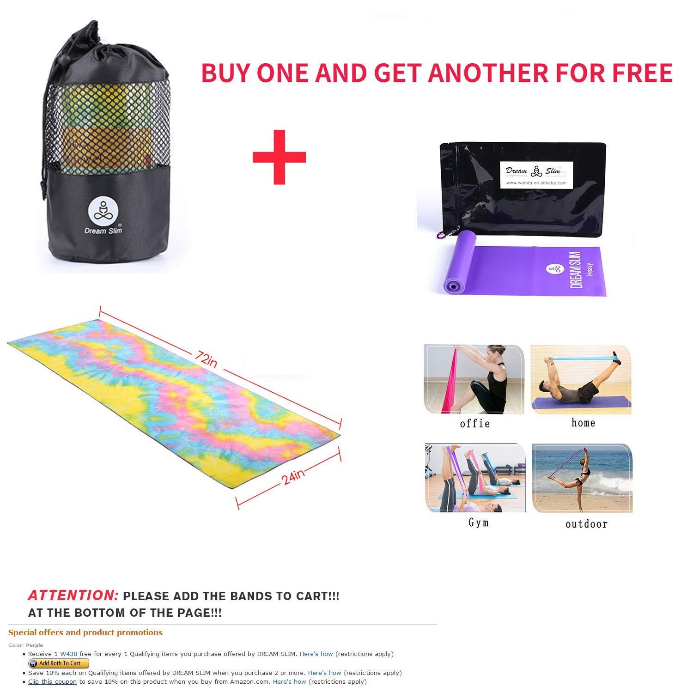 100/% Microfiber DREAM SLIM Gosweat Hot Yoga Towel- Super Absorbent Anti-Slip Suede Non-Slip Best Bikram HOT Yoga Towels W438