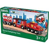 Brio-33844 Tren Juego Primera Edad, Negro, Rojo, Color