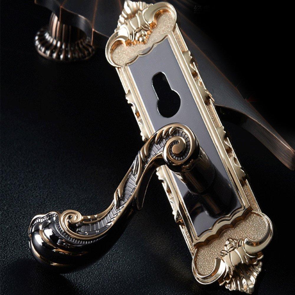 Aluminum Entry Indoor Lever Door Lock Set Bedroom Handle Knob Lockset & Keys by TFCFL (Image #2)