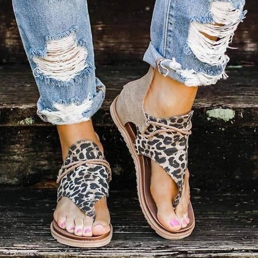 Amazon.com: Ecolley Leopard Sandals for