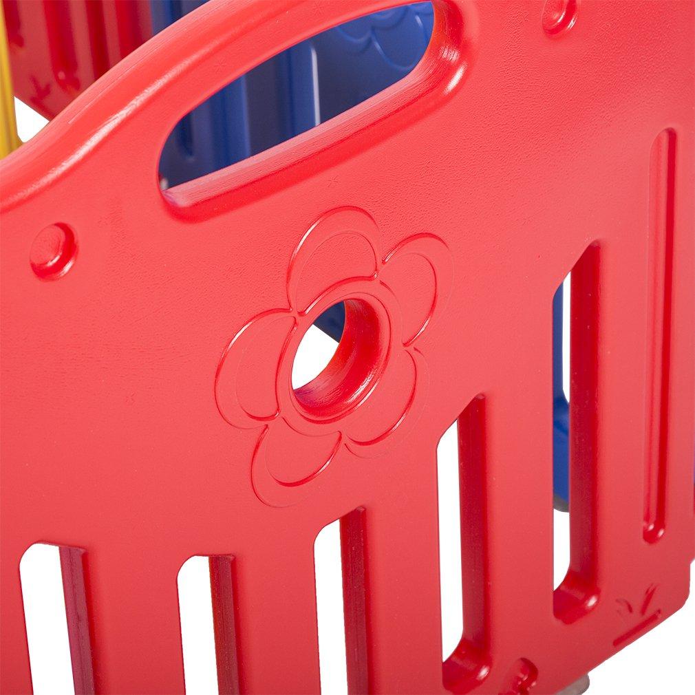 Baby Playpen PlaySafe Activity Center 10 Panel Adjustable Playard Kids w/Lock by FDW (Image #7)