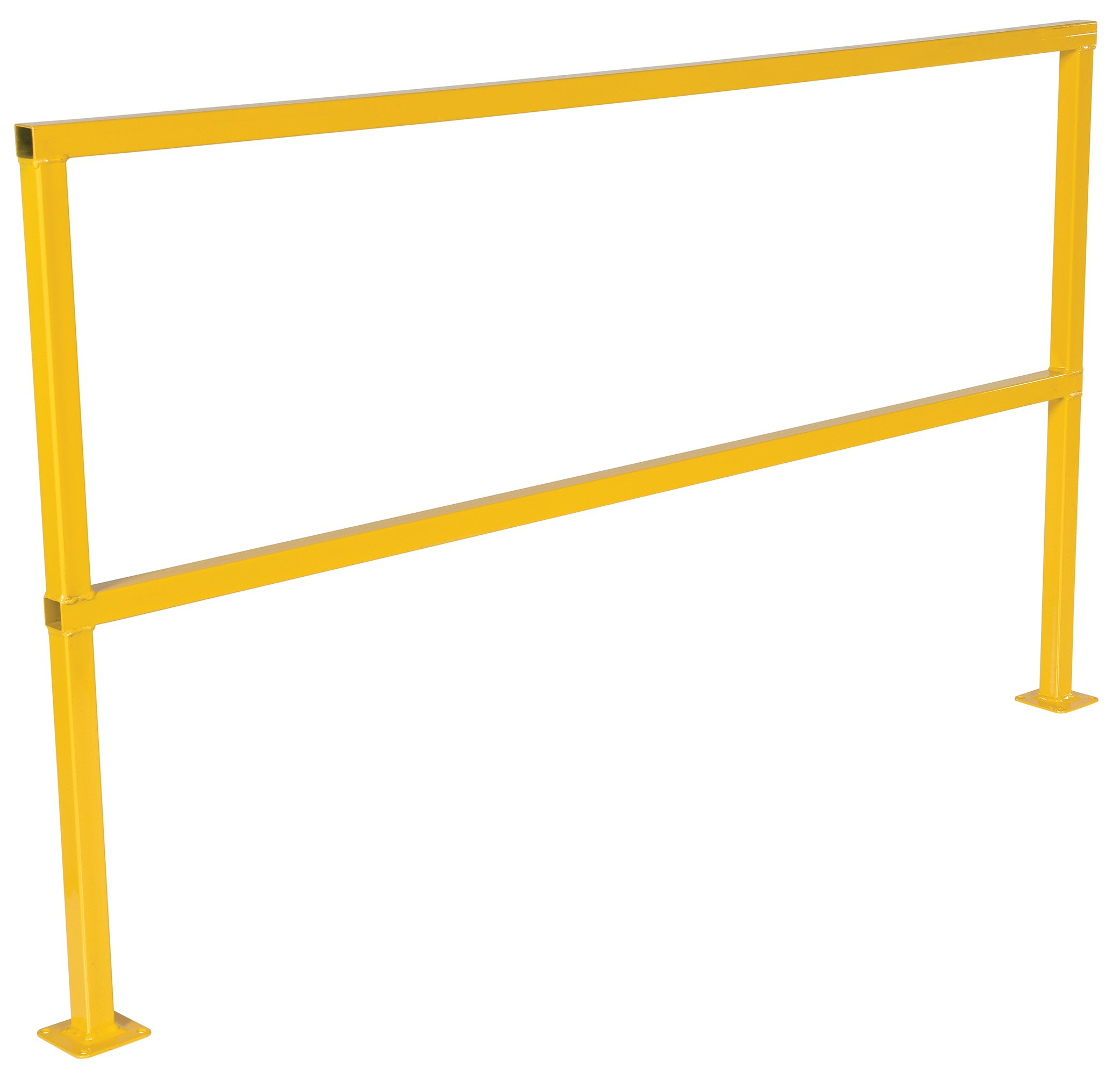 Vestil SQ-72 Square Safety Rigid Handrail without Toeboard, Steel, 72'' Usable Length, 41-5/8'' x 4'' x 74-1/2''