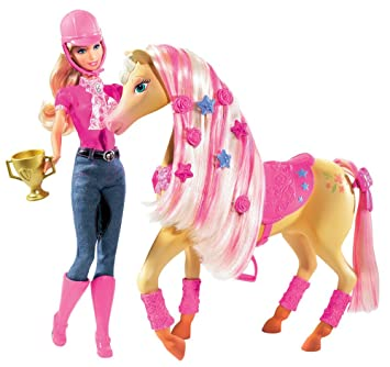 Barbie Mattel P7525-0 - Tawny Badezimmer Glanz und Glamour: Amazon ...