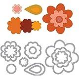 Sizzix Framelits Die Set 11PK - Flower Layers & Leaf by Stephanie Barnard