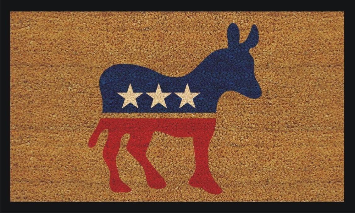 """Home & More Democrat Donkey 17""""x29"""" Coir with Vinyl Backing Doormat"""