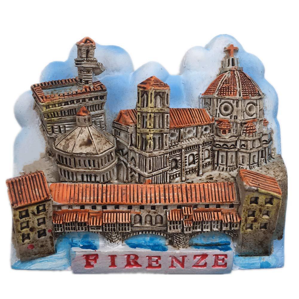Fridge Magnet Old Bridge Firenze Florence Italy 3D Resin Handmade Craft Tourist Travel City Souvenir Collection Letter Refrigerator Sticker