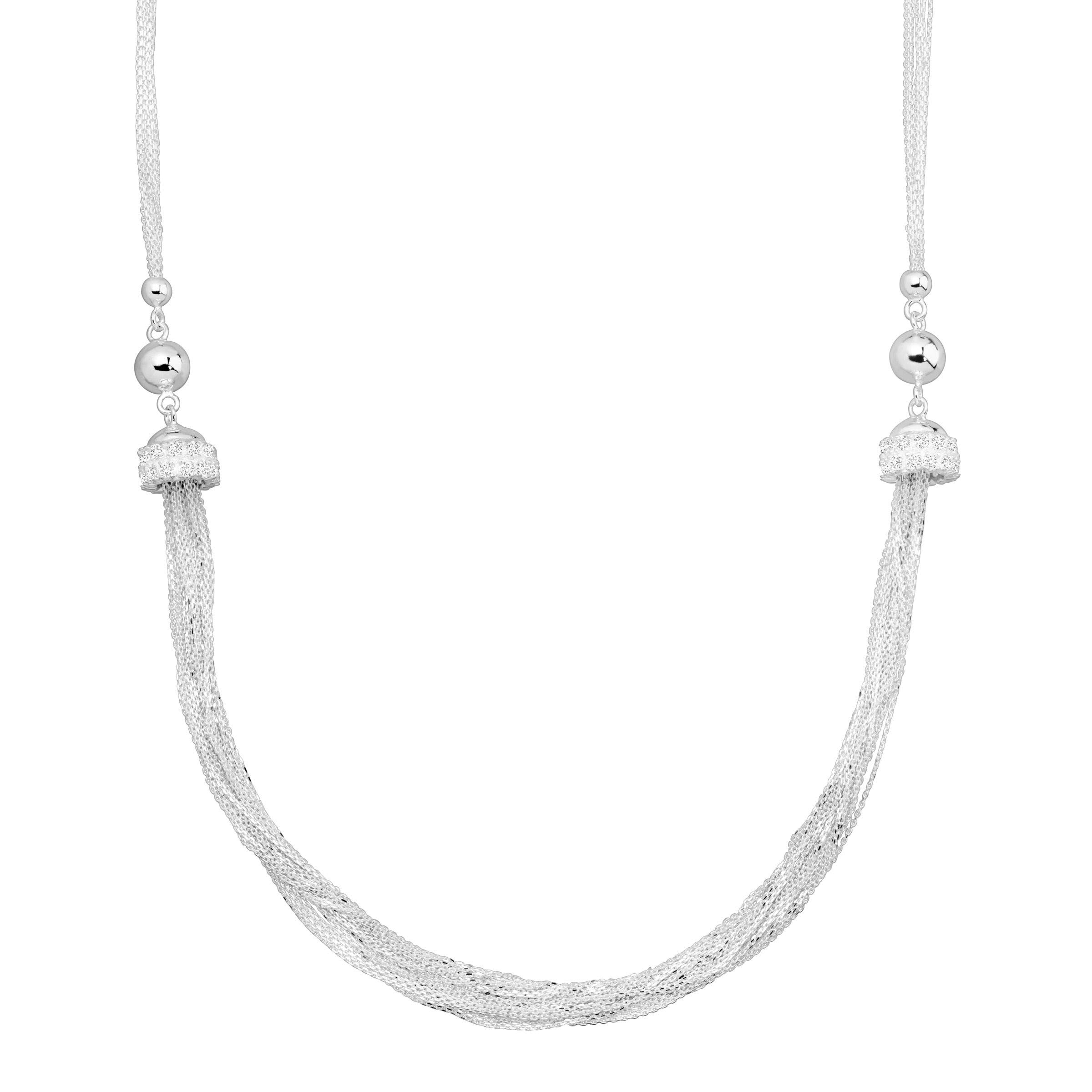 Silpada 'Cityscape' Multi-Strand Necklace with Cubic Zirconia in Sterling Silver