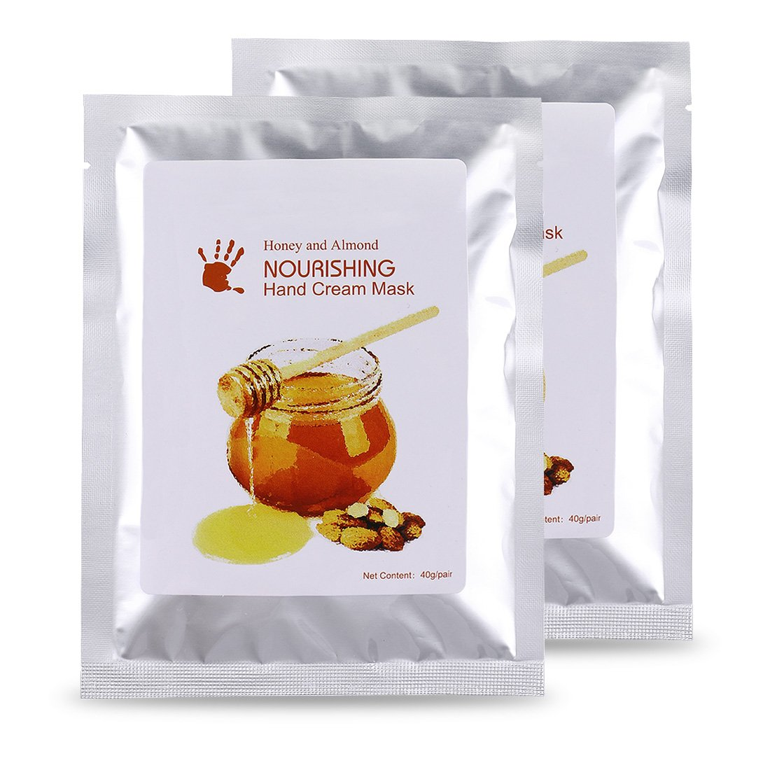 Hand Mask Glove Wokaar Honey & Mik Hand Mask Moisturizing Gloves for Dry Hand Exfoliating Nourishing Soothing Whitening,Peeling Mask 2 Pack (1 Pair/Pack)