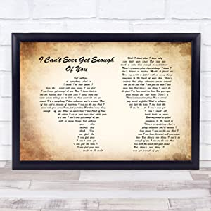 I Can't Ever Get Enough of You Man Lady Couple Song Lyric Print