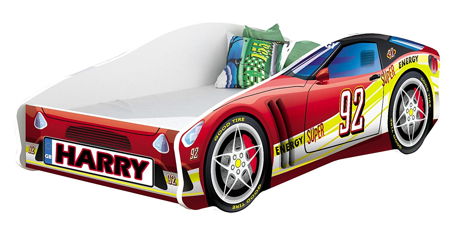CHILDREN KIDS BED CAR + FREE MATTRESS TODDLER BOYS GIRLS 140x70 160x80 180x80 (160x80, 2N) ACMA