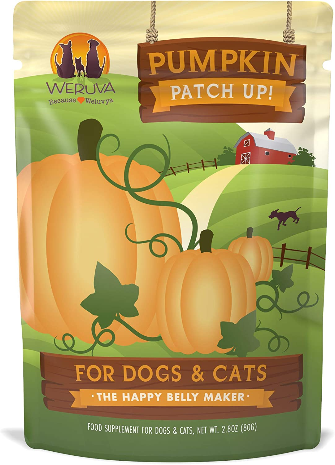 Weruva Pumpkin Patch Up Pumpkin Puree Digestive Supplement Pouches For Dogs Cats