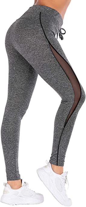 VZULY Womens Yoga Pants Workout Running Tummy Control 4 Way Stretch Leggings