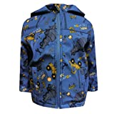 Outburst - Baby boy Softshelljacke Raincoat with hood Construction site motif water-repellent, blue - 8472409