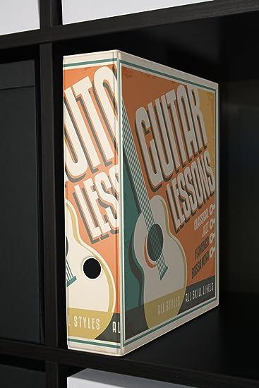 Archivador A4 Carpeta 2 anillas 60mm impreso Clases de guitarra: Amazon.es: Hogar