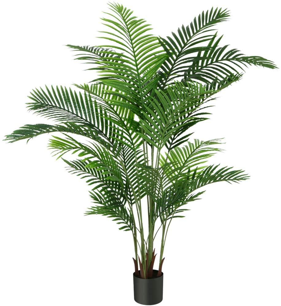 Fopamtri Artificial Areca Palm Plant 6 Feet Fake Palm Tree with 20 Trunks Faux Tree for Indoor Outdoor Modern Decoration Feaux Dypsis Lutescens Plants in Pot for Home Office Perfect Housewarming Gift