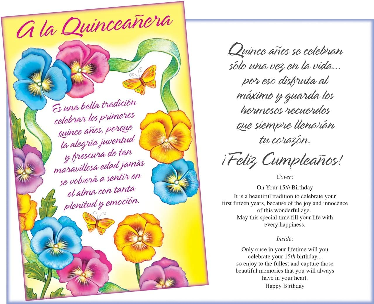 Prime Greetings Spanish Birthday Card for Quinceañera