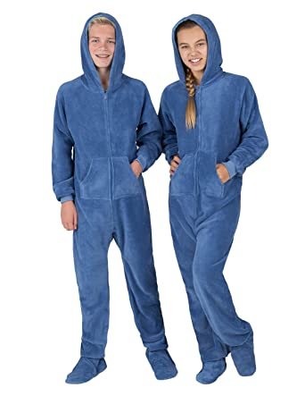 f6b0e6057 Amazon.com  Footed Pajamas - Under The Sea Adult Hoodie Chenille ...