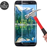 Galaxy S7 Edge Tempered Glass Screen Protector, KMISS [Full Coverage] [9H Hardness] [Anti-scratches] [Anti-Fingerprint] [Bubble-Free]Premium HD Screen Protector for Samsung Galaxy S7 Edge (2 PACK)