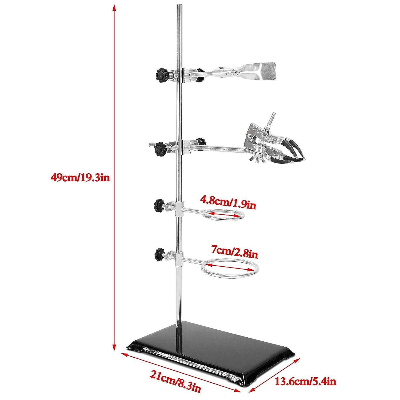 hauteur 82-310 mm Wisamic Support de v/érin en acier inoxydable 6 x 6 pouces capacit/é de chargement 15 kg Table de laboratoire Jiffy Jack Lab 150x150 mm en acier inoxydable pour /él/évateur /à ciseaux