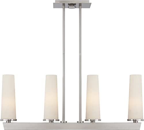 Quoizel UPCL438BN Uptown Chelsea Loft Contemporary 4 Light Rod Hung Island Chandelier