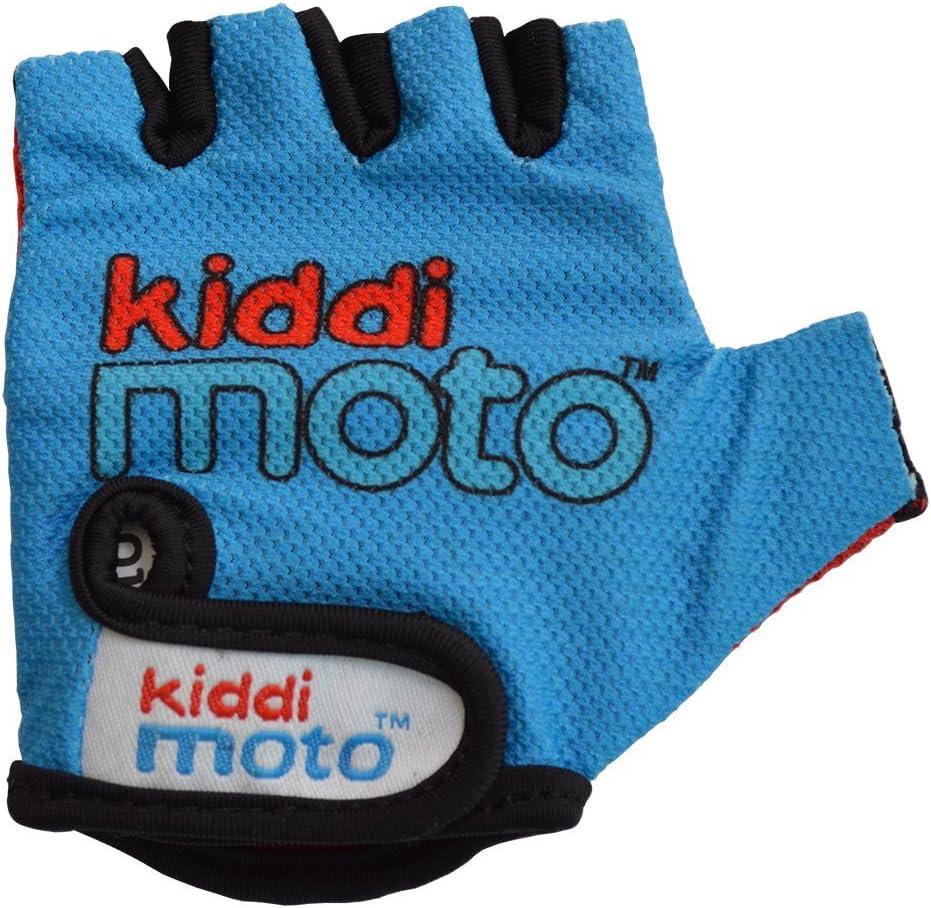 Medium Kiddimoto Kids Cycling Fingerless Gloves Gloves for Girls and Boys - Red Dotty for Kids Bike Scooter 4-8 years Balance Bike and Skateboard