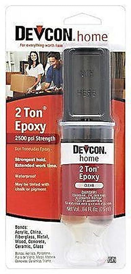 Nueva Devcon 31345 S31 2 Ton claro plástico soldador epoxi adhesivo pegamento resistente al agua