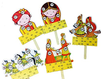 Marriage Themed Tambola Tickets Made by Smriti Singhania (15pc Set) Ideal for Parties