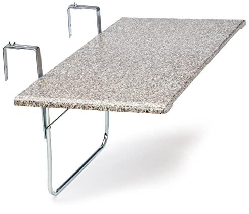 Balkonklapptisch  Amazon.de: Videx 16402 Balkonklapptisch Terrazo Design 51x102cm ...