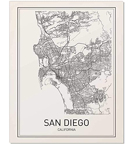 San Diego Map City.Amazon Com San Diego San Diego Map San Diego Map Print City Map