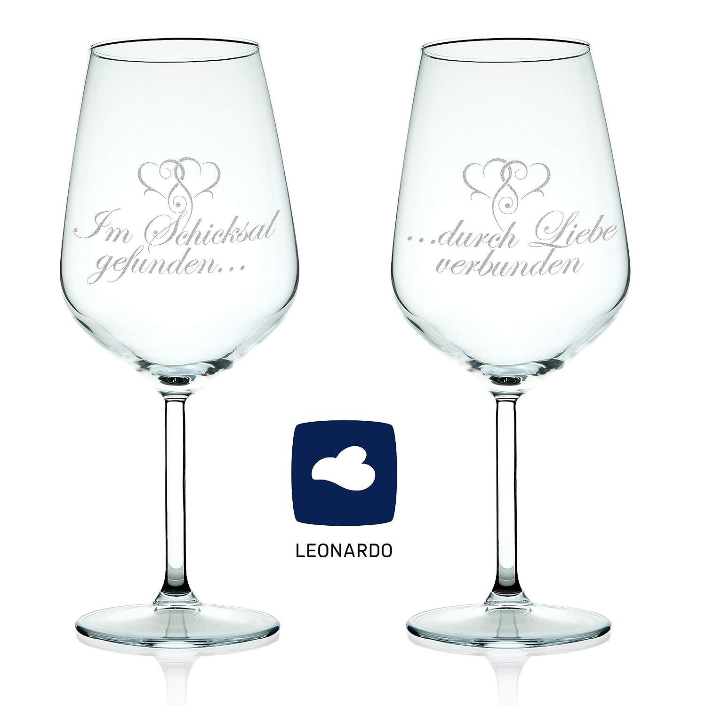 Leonardo Weinglas Mit Gravur Lieblingsmensch Weinglas Das
