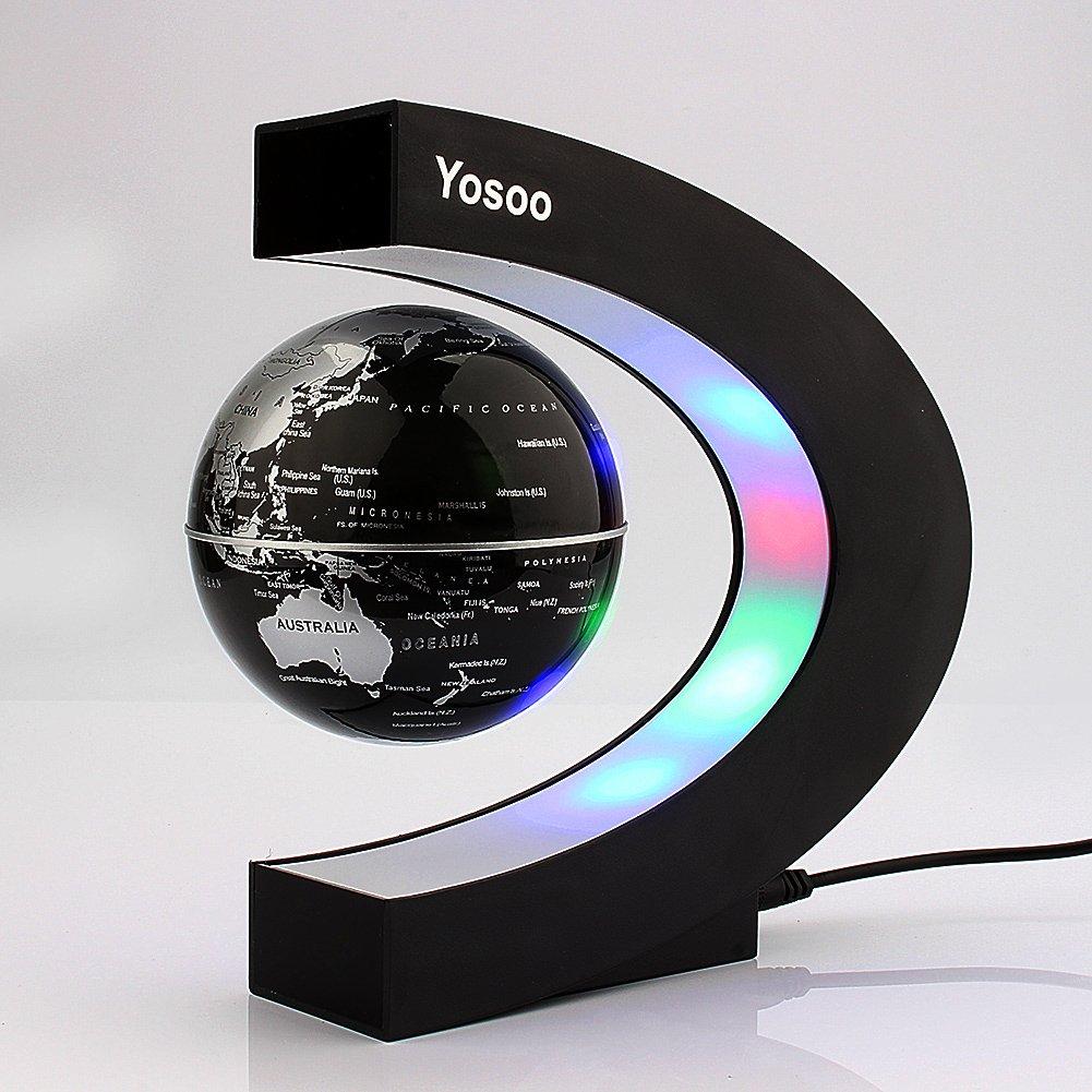 yosoo c forma decoracin levitacin magntica flotante mapa del mundo globo