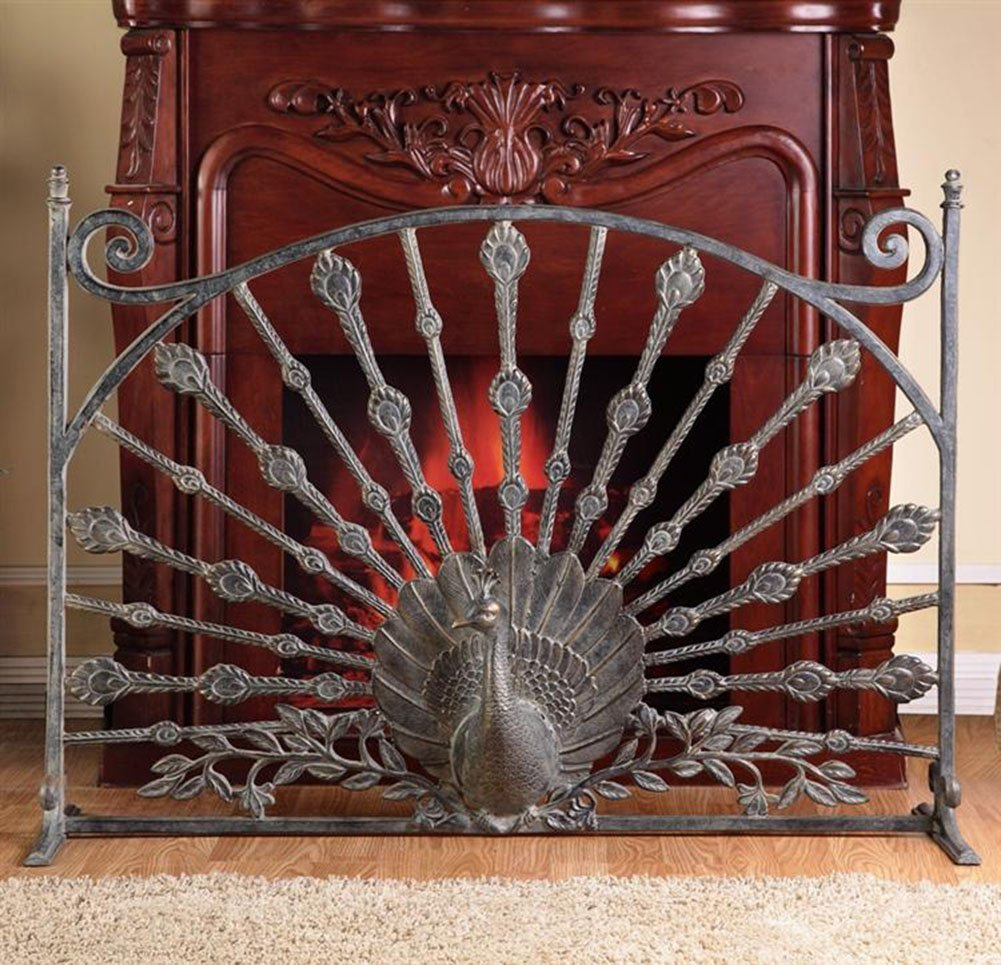 Peacock Fireplace Screen
