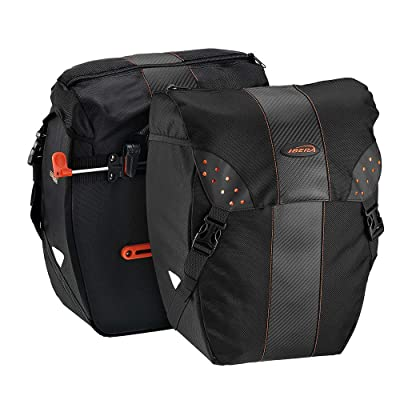 Ibera Bicycle Bag PakRak Clip-On Quick-Release All Weather Bike Panniers