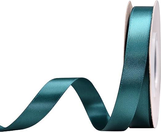 "Aqua 5//8/"" Double Face Satin Ribbon 5//8/"" x 3 yards"