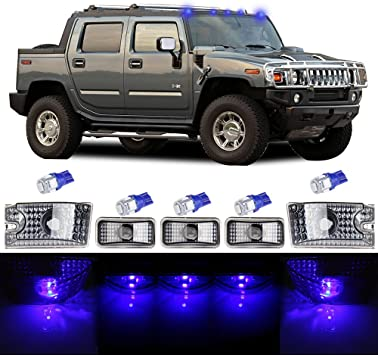 cciyu 5pcs Red Cab Marker Light Top Roof Marker Light Replacement fit for 2003 2004 2005 2006 2007 2008 2009 Hummer H2