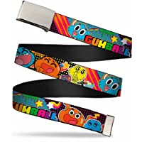 "Buckle-Down Men's Web Belt The Amazing World of Gumball 1.25"", Multicolor, Wide-Fits up to 42"" Pant Size"