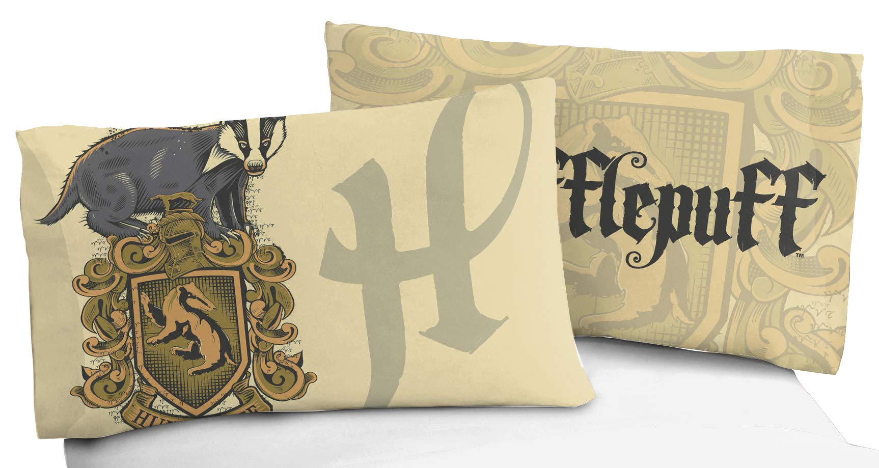 Jay Franco Harry Potter House of Hufflepuff Kids Super Soft Double-Sided 1 Pack Pillowcase (Official Harry Potter Product) by Jay Franco (Image #2)