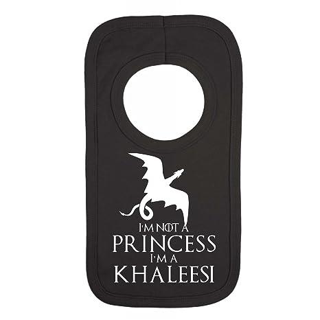 Im Not a Princess Im a Khaleesi Funny Babero para bebé negro ...