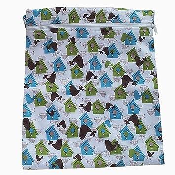 cremallera impermeable bolsa de pañales de tela ...