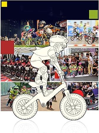 Bicicleta de Equilibrio de Aleación de Magnesio for Niños y Niños Pequeños Bicicleta de Entrenamiento Deportivo Sin Pedal for Edades de 3 A 6 Años Aprenda A Andar Pre Bicicleta Altura Ajustable