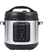 Crock-Pot Multi-Use Express Crock Programmable Slow Cooker and Pressure Cooker with Manual Pressure, Boil & Simmer, Stainless Steel