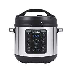 Crock-pot SCCPPC800-V1 8-Quart Multi-Use XL Express Crock Programmable Slow Cooker with Manual Pressure Boil & Simmer 8QT Stainless Steel
