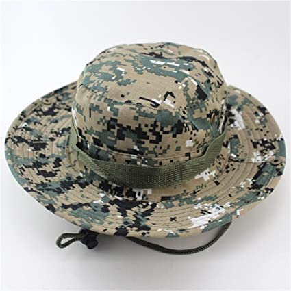 b62d5a085cc HWYDM Outdoor Sports Men   Women s Fishing Hat Camouflage Bucket Hat  Fisherman Camo Ripstop Jungle Bush