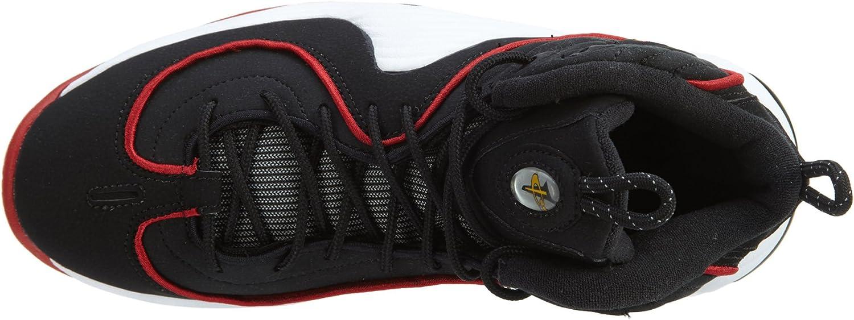 Nike Grade-School Air Penny II 2 Black//White-University Red Sneakers 3.5