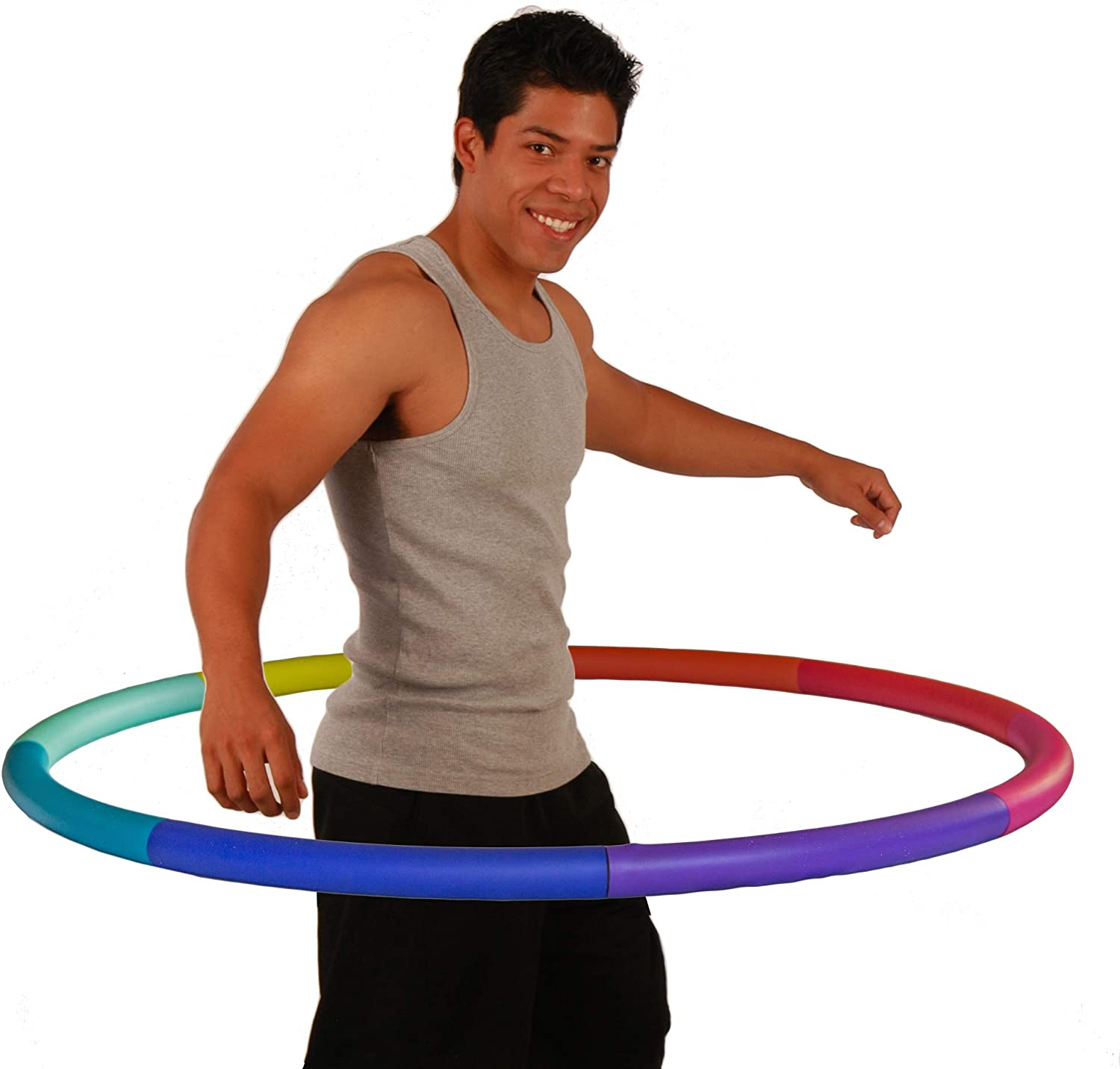 Exercise Hoola Hoop with Smooth Performance Foam Weighted Hula Hoop for Adults Adjustable Adult Fitness Hoops Premium Quality and Soft Padding Exercise With Resistance Bands