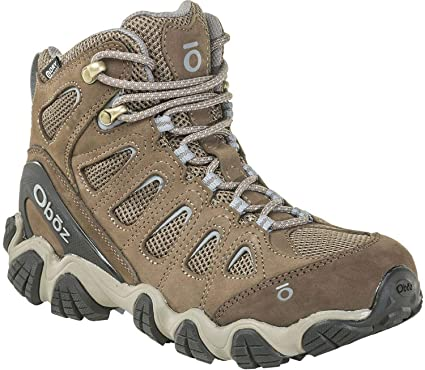 39605192c Oboz Sawtooth II Mid B-Dry Hiking Boot - Women s Brindle Tradewinds Blue 6