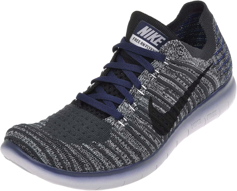 NIKE Free RN Flyknit Gyakusou, Mens Running Shoes, BlackCollege Navy Anthracite Cool Grey, 9 M US
