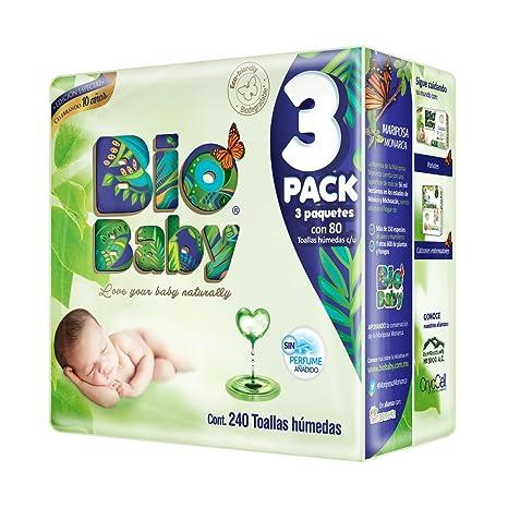 Bio Baby Toallas Húmedas, 1 caja con 4 paquetes de 240 Piezas (960 ...