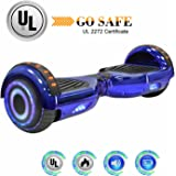 King Sports Chrome Dual 250W Motors Hoverboard with Build-in Bluetooth Speakers and LED Lights, UL2272 Certified