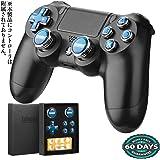 PS4 スティック | PlayStation 4コントローラー用アシストキャップ 方向キーキャップ with ◎△□✖️ボタンカバー(プレーステ 4) Epindon Cap-Con C3 金属製 ネイビブルー 7個セット【十字キー版】